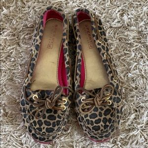 Girls' SPERRY Topsiders Leopard Print - Size 12.5M